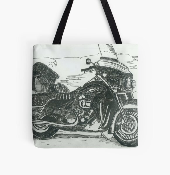 Motorcycle All Over Print Tote Bag