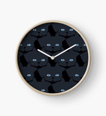 Grey #06 Cat Cattern [Cat Pattern] Clock