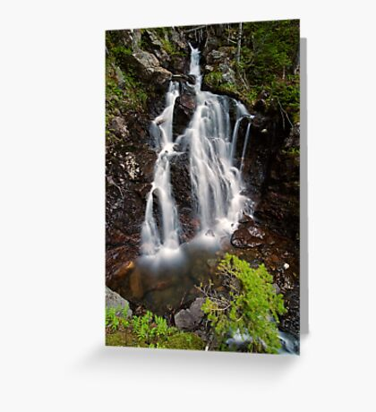 Upper Section of Corney Brook Falls Greeting Card
