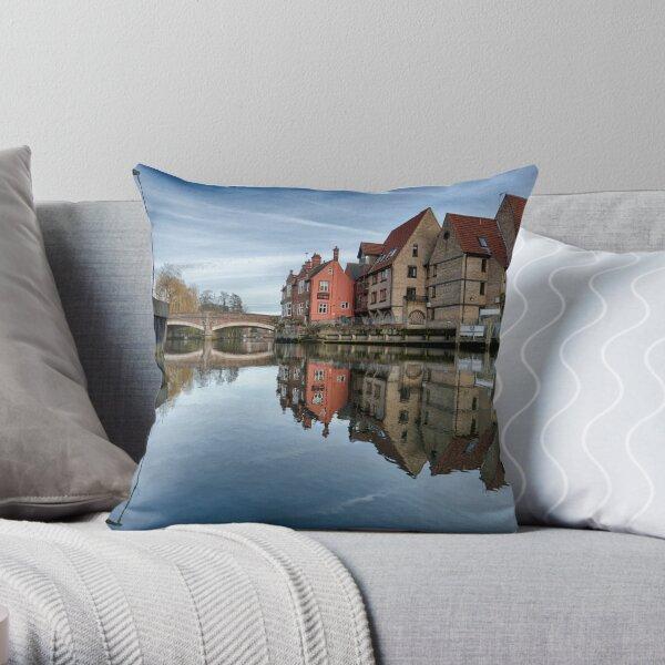 Fye Bridge, Norwich Throw Pillow