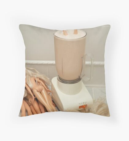 "Bad Bambi Series, #26 ""Take One Down, and Pass It Around"" Throw Pillow"