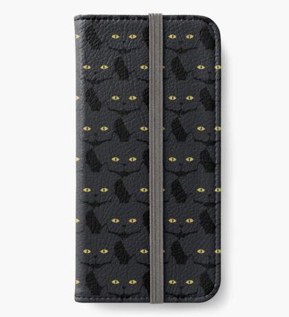Black Cat Cattern [Cat Pattern] iPhone Wallet