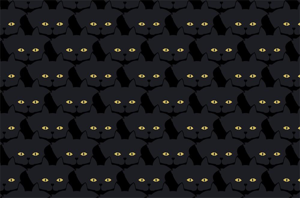 Black Cat Cattern [Cat Pattern] by Brent Pruitt