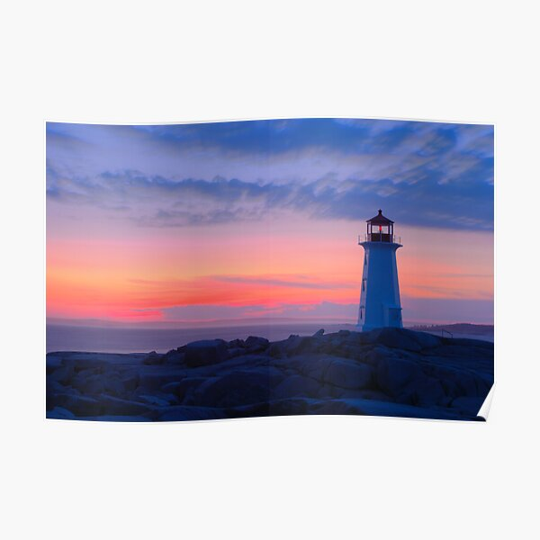 Peggy's Cove Light Poster