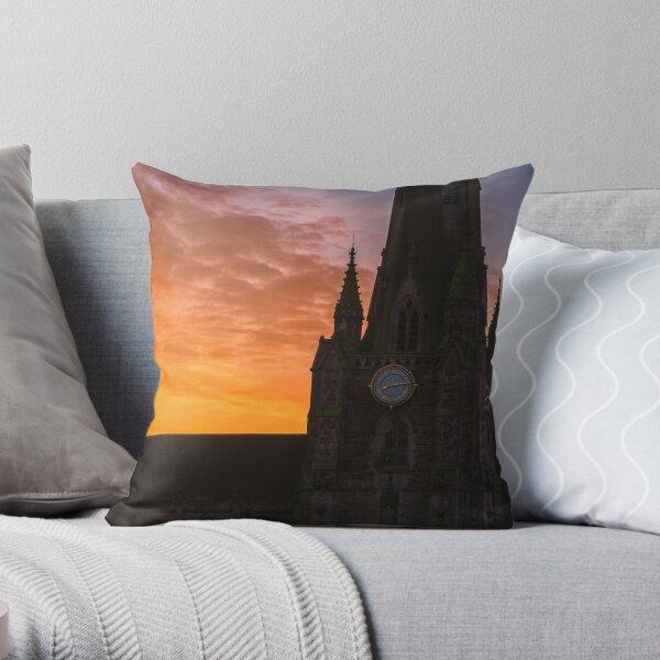 Sunrise over St Martin in the Bull Ring & Horatio Nelson Throw Pillow