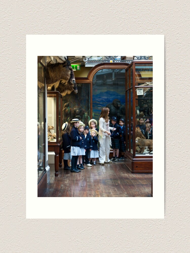 Alternate view of School visit to the museum Art Print