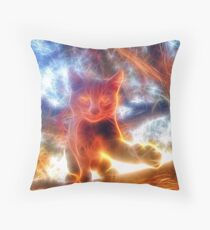 Cat - Energy Throw Pillow