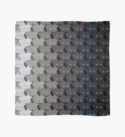 Grey Cat Vertical Stripe Cattern [Cat Pattern] Scarf