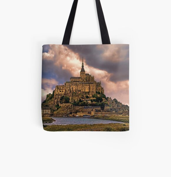 On The Coast Of Normandy All Over Print Tote Bag