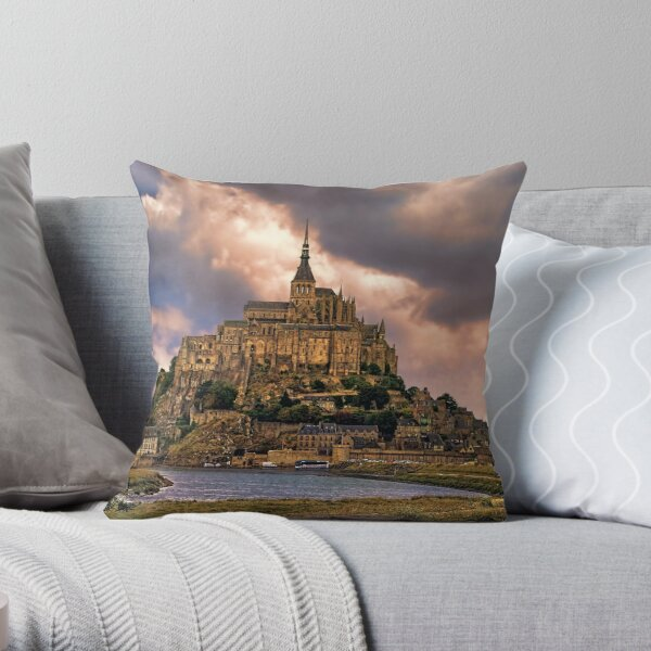 On The Coast Of Normandy Throw Pillow
