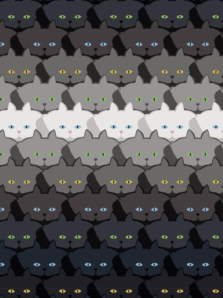 Grey Cat Horizontal Stripe Cattern [Cat Pattern] by brentpruitt