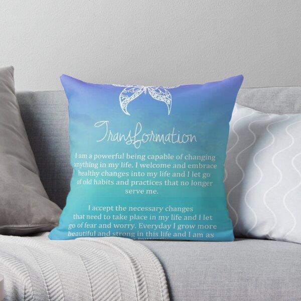 Affirmation - Transformation Throw Pillow