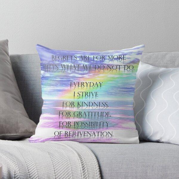 Regrets Throw Pillow