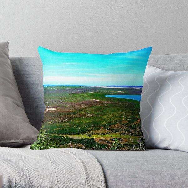 Cape cod landscape Throw Pillow