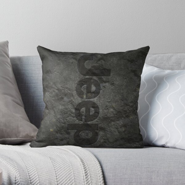 Jeep rock logo Throw Pillow
