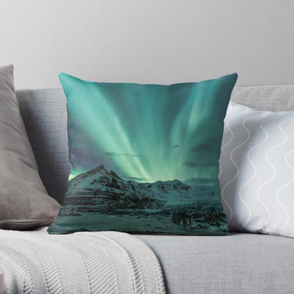 Aurora Borealis über dem Gletscher Dekokissen