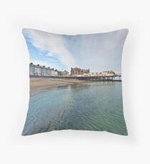 Aberystwyth Blue Throw Pillow