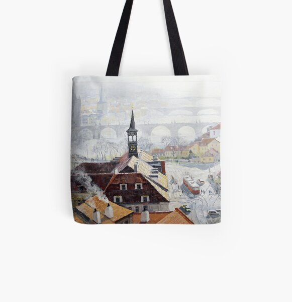 Praha Early Spring All Over Print Tote Bag