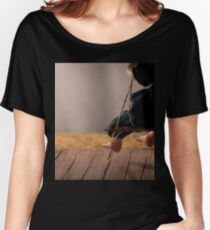 Dry Summers - dollhouse scale porch scene Women's Relaxed Fit T-Shirt