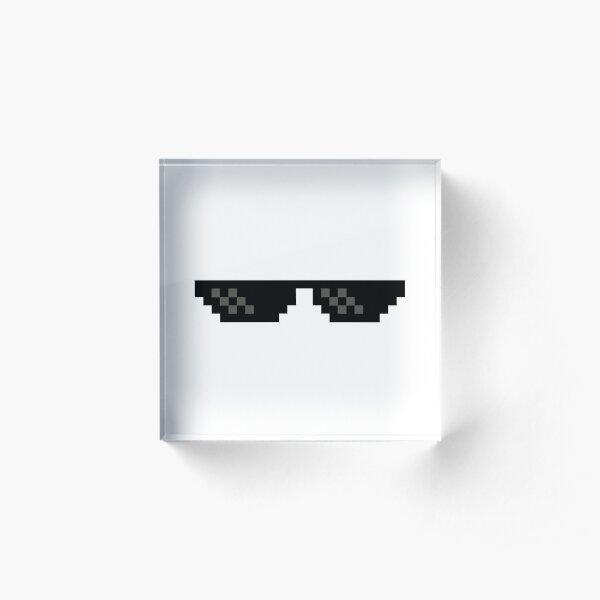 Mlg meme sunglasses Acrylic Block