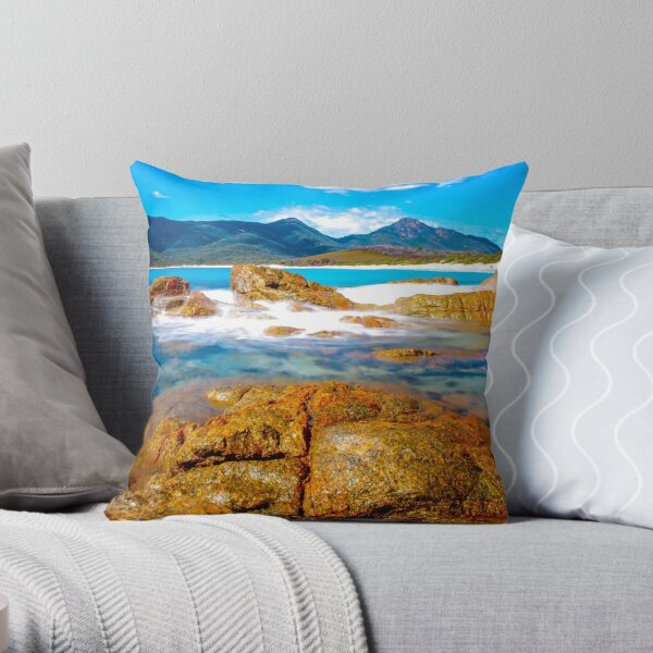 Wineglass Bay Throw Pillow