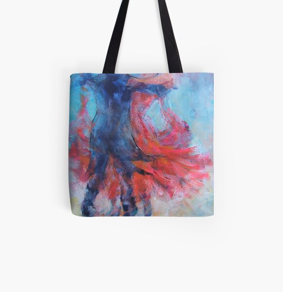 Ballroom Dancers In Hold - Dance Art Gallery All Over Print Tote Bag