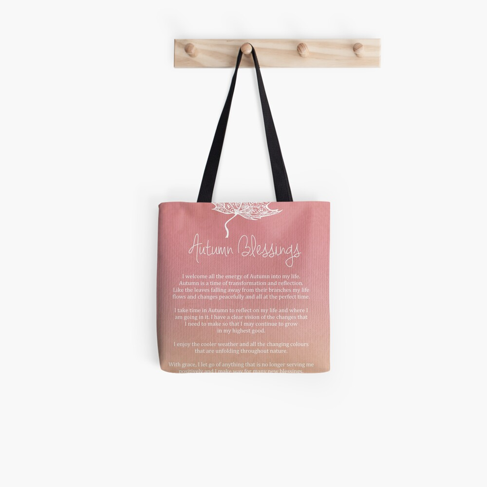 Affirmation - Autumn Blessings Tote Bag
