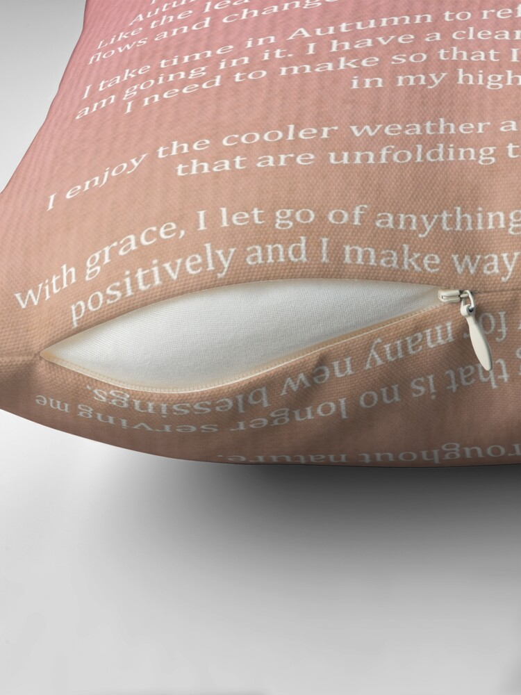 Alternate view of Affirmation - Autumn Blessings Throw Pillow