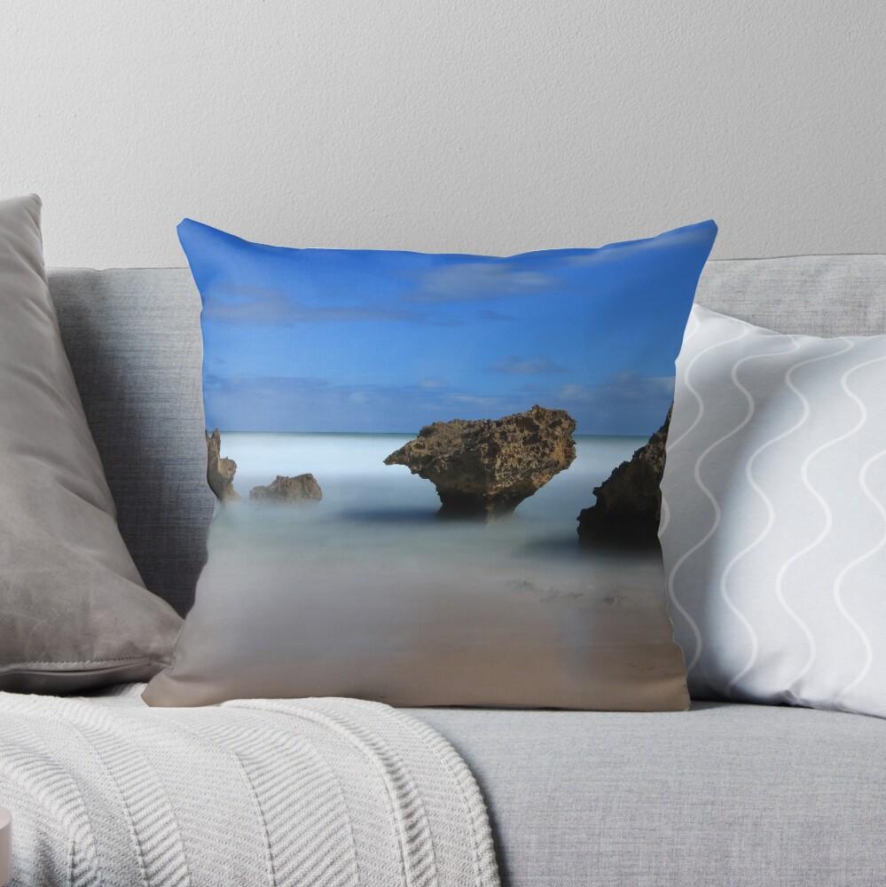 Montforts beach - Blairgowrie Throw Pillow