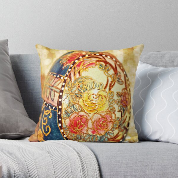 Elegant Egg Throw Pillow