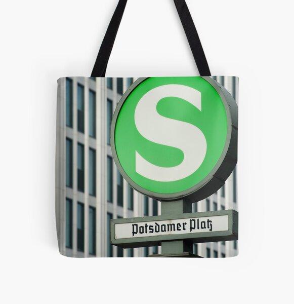 S-Bahn Sign Allover-Print Tote Bag