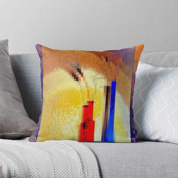Crystallization of abstract reality Throw Pillow
