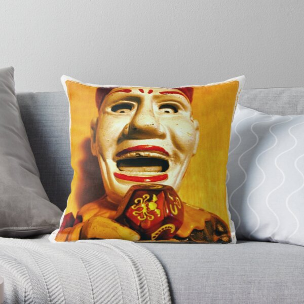 The Klown in Yellow Throw Pillow