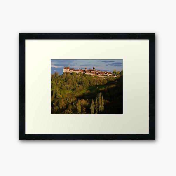 Loubressac Perched Above The Dordogne River Framed Art Print