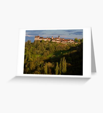 Loubressac Perched Above The Dordogne River Greeting Card
