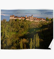 Loubressac Perched Above The Dordogne River Poster
