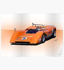 1969 McLaren M8C Racecar Poster