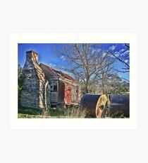 Pioneer Farmers cottage Art Print