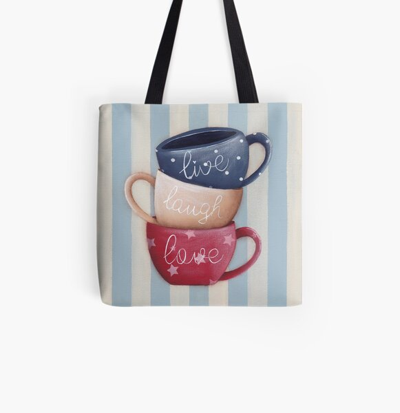 Live Laugh Love All Over Print Tote Bag
