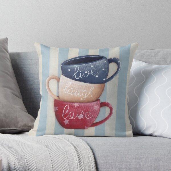 Live Laugh Love Throw Pillow