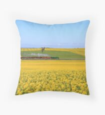 3642 passes Canola fields  - Old Junee Throw Pillow