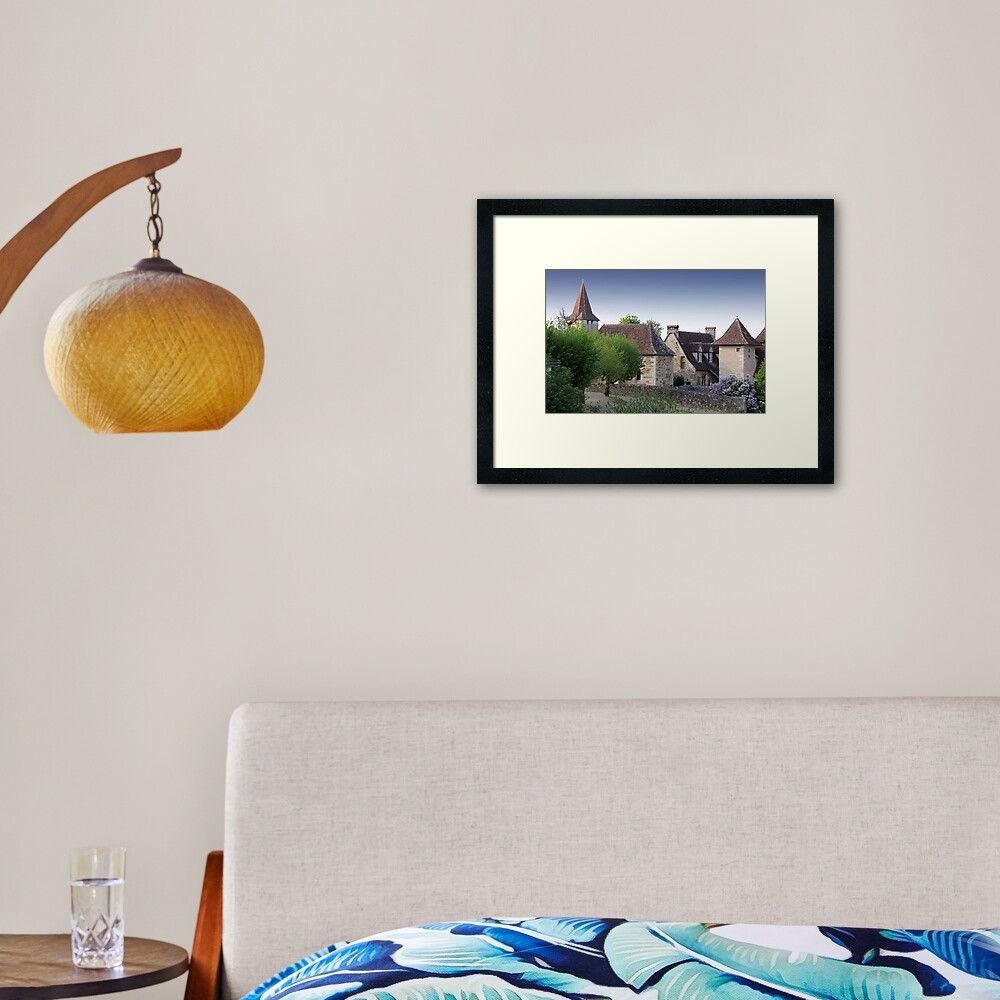 Rooflines of Carennac, France Framed Art Print