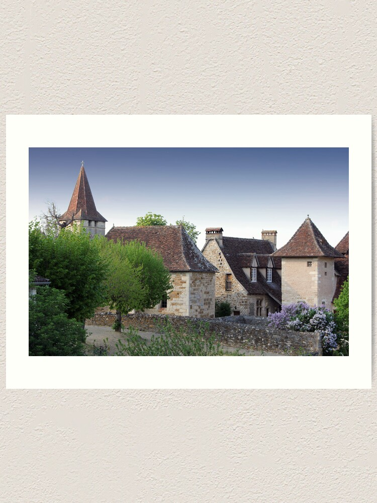 Alternate view of Rooflines of Carennac, France Art Print