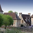 Rooflines of Carennac, France by A.M. Ruttle