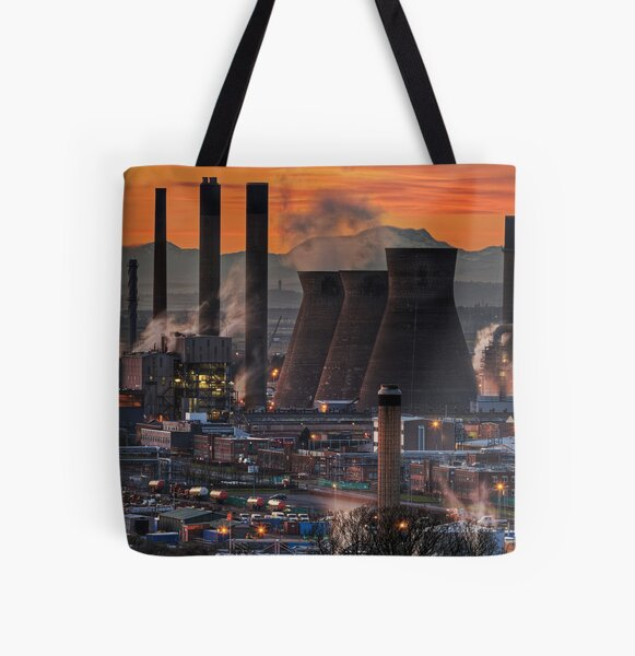 Grangemouth Refinery (3) All Over Print Tote Bag