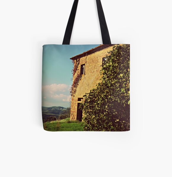 Rustic and Whimsicle Architecture in the Tuscan Countryside of Italy All Over Print Tote Bag