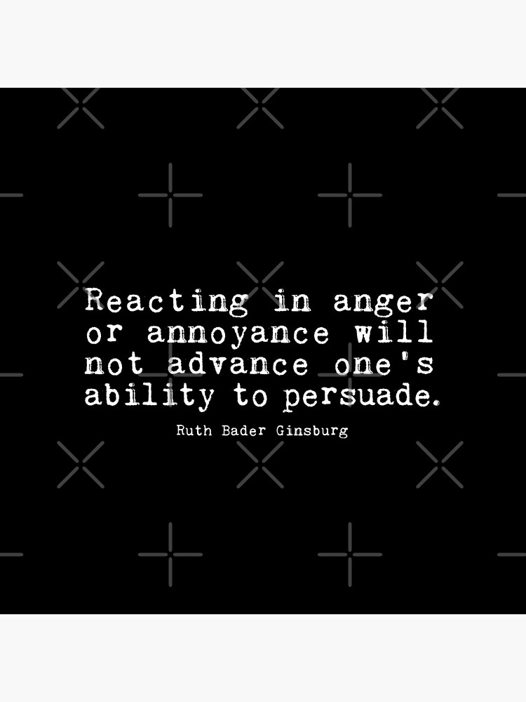 Reacting in anger or annoyance by corbrand