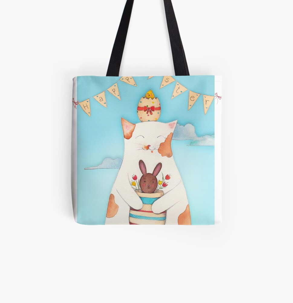 Easter Blossom All Over Print Tote Bag