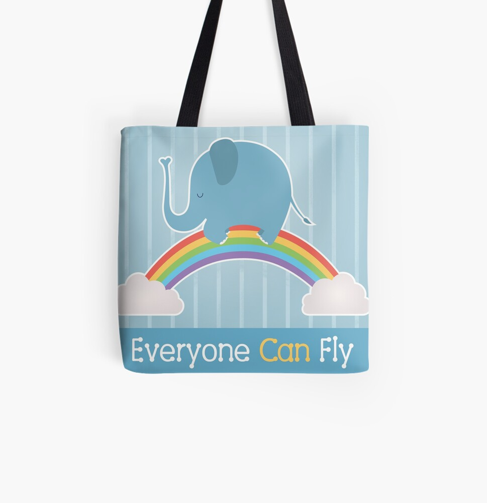 Everyone Can Fly All Over Print Tote Bag