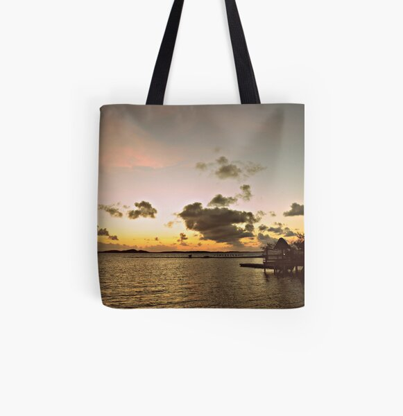 An Old Time Sunrise In The Beautiful Exumas, Bahamas All Over Print Tote Bag